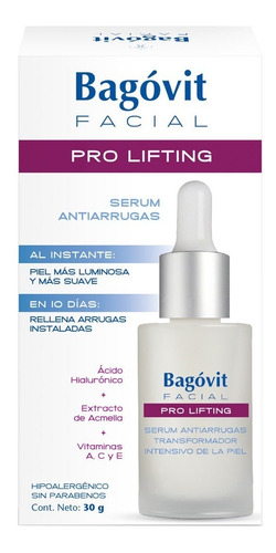 bagóvit facial pro lifting serum antiarrugas transformador