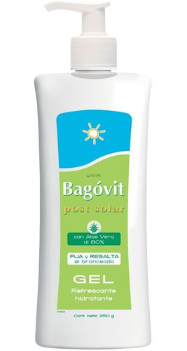 bagóvit post solar gel refrescante hidratante aloe vera 350g