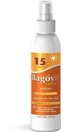 bagóvit protector solar fps 15 spray acelerador de bronceado
