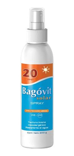 bagóvit protector solar fps 20 spray rostro y cuerpo 200g