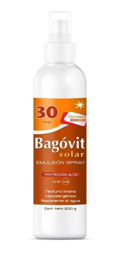 bagóvit protector solar fps 30 con acelerador de bronceado