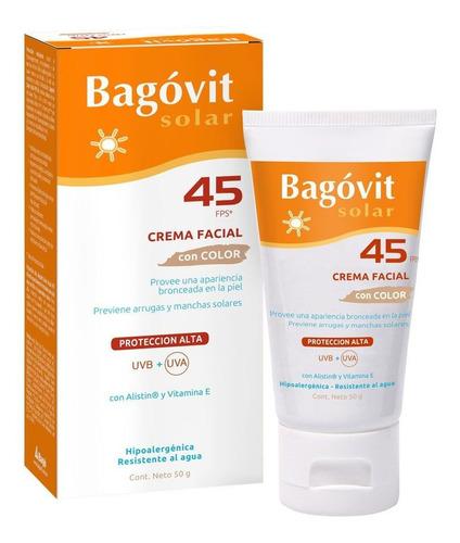 bagóvit protector solar fps 45 facial color piel sensible