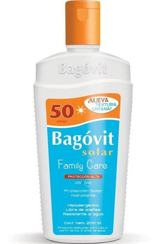 bagóvit protector solar fps 50 emulsión rostro cuerpo 200ml