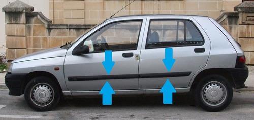 baguetas renault clio 1994 / 1999 5 puertas molduras 4piezas