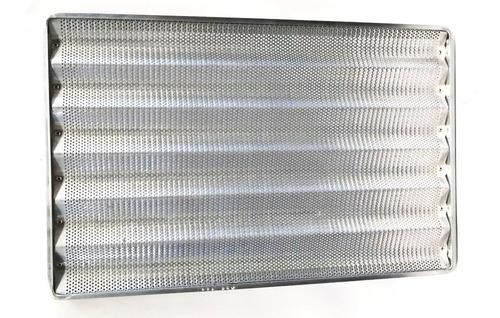 baguetera lata bandeja 70x45 aluminio 5 u 8 ondas o lisa