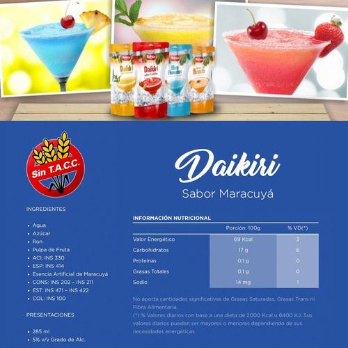 bahía cocktail 8 tragos listos daikiri pulpa frutas con ron