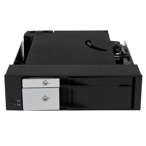 bahía dual startech.com sin bandeja móvil p/sata/sas 2.5 3.5