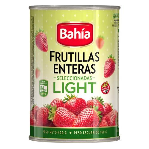 bahia lata de frutillas enteras light en almíbar 400 grs