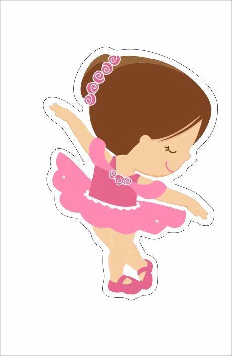 Artesanato Brasileiro No Exterior ~ Bailarina Cute 10 Adesivos 8,5cm Decorativos Impress u00e3o