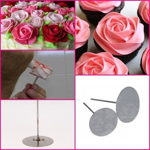 bailarina de rosas alumínio kit c/ 2 peças- grande e pequeno