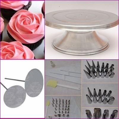 bailarina p/ decorar bolo + kit bicos 40pçs + suportes rosas