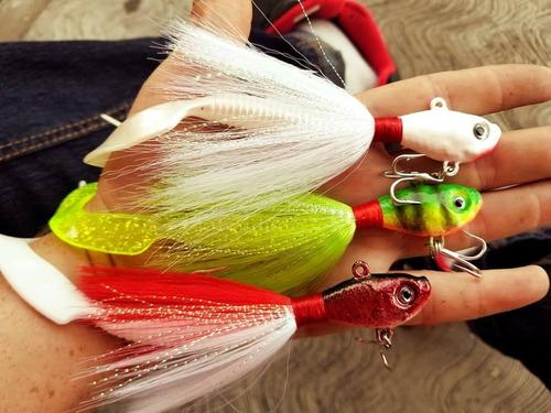 bailarinas plumero minnow de 1 oz robaleras pesca 12 colores