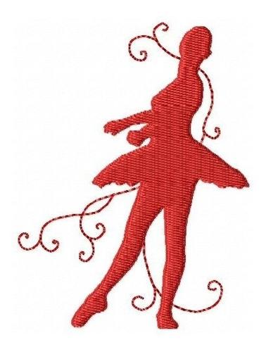 bailarinas silhuetas - coleção de matriz de bordado