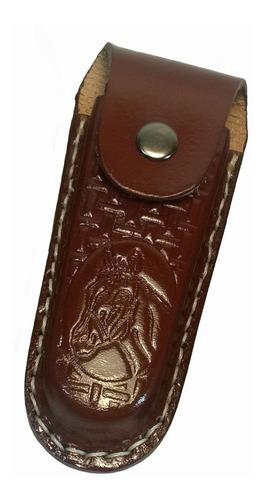 bainha para canivete capa de couro tam g g 11,5 cm interno