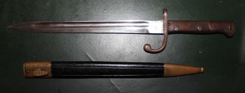 baioneta mauser 1908 - com numeração fábrica itajubá - raro