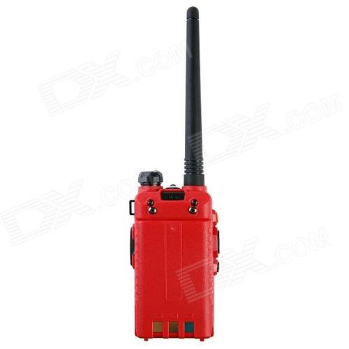 baiston bst-558uv 1.6 walkie talkie  banda dupla - vermelho