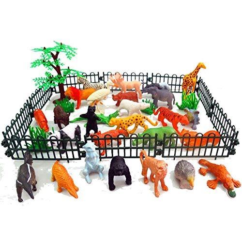9d12f892f4e5 Baivyle 53pcs Safari Jungle Animals Figuras Juego De Juguete ...