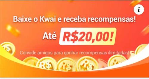baixa o kwai e ganhe 20 reais na hora com código promocional