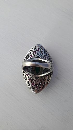 baixei anel prata de lei 925 turca pedras naturais aro 18