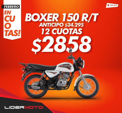 bajaj boxer 150 base 0km nuevo modelo !! lidermoto