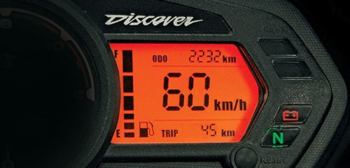 bajaj discover 125 frenos cbs roja