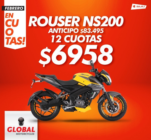bajaj rouser 200 ns -globalmotorcycles financiación