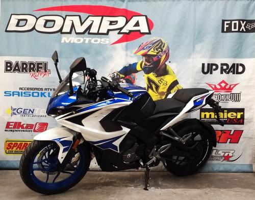 bajaj rouser 200 rs inyeccion abs nuevo modelo dompa motos