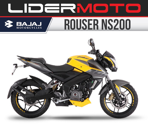 bajaj rouser 200ns - amarilla new 2018 - lidermoto