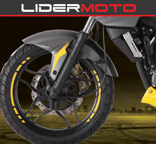 bajaj rouser 200ns - color amarilla 2017 - lidermoto
