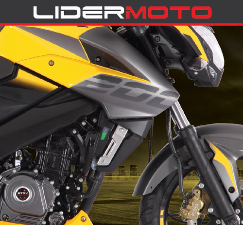 bajaj rouser 200ns - color amarilla 2018 - lidermoto