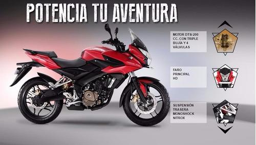 bajaj rouser as 200 - 2017 roja patentada / tomo tu moto