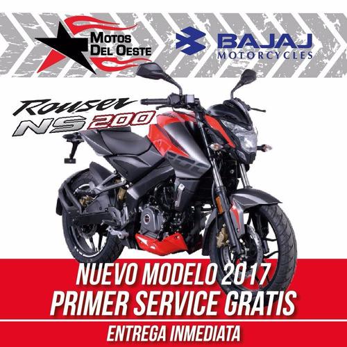 bajaj rouser ns 200 nuevo modelo 2017 oeste motos