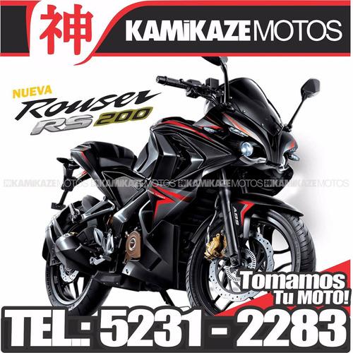 bajaj rouser rs 200 -mod2017/okm/tomo moto/financio dni/tarj