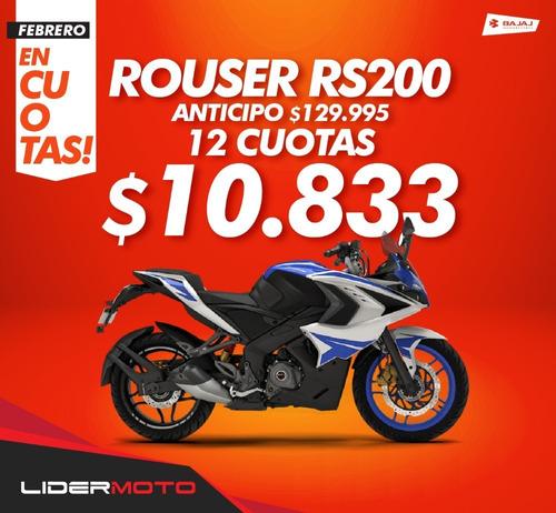 bajaj rouser rs rs200 12 cuotas s/ int. lidermoto san justo