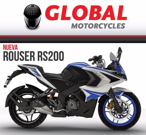 bajaj rouser  rs200 - globalmotorcycles 0km