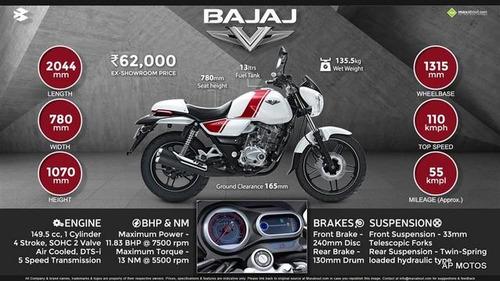 bajaj v15 0km 2018 autoport motos