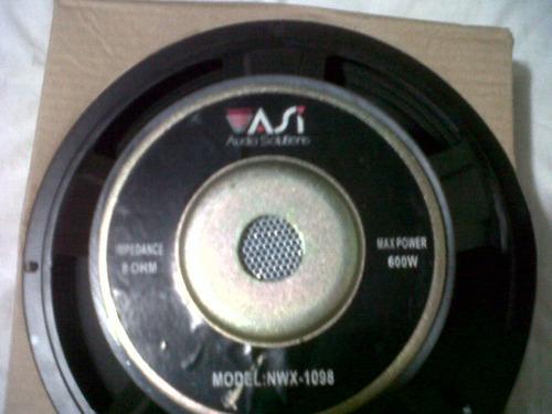 bajo 600 watts 8 ohms marca audio solutions