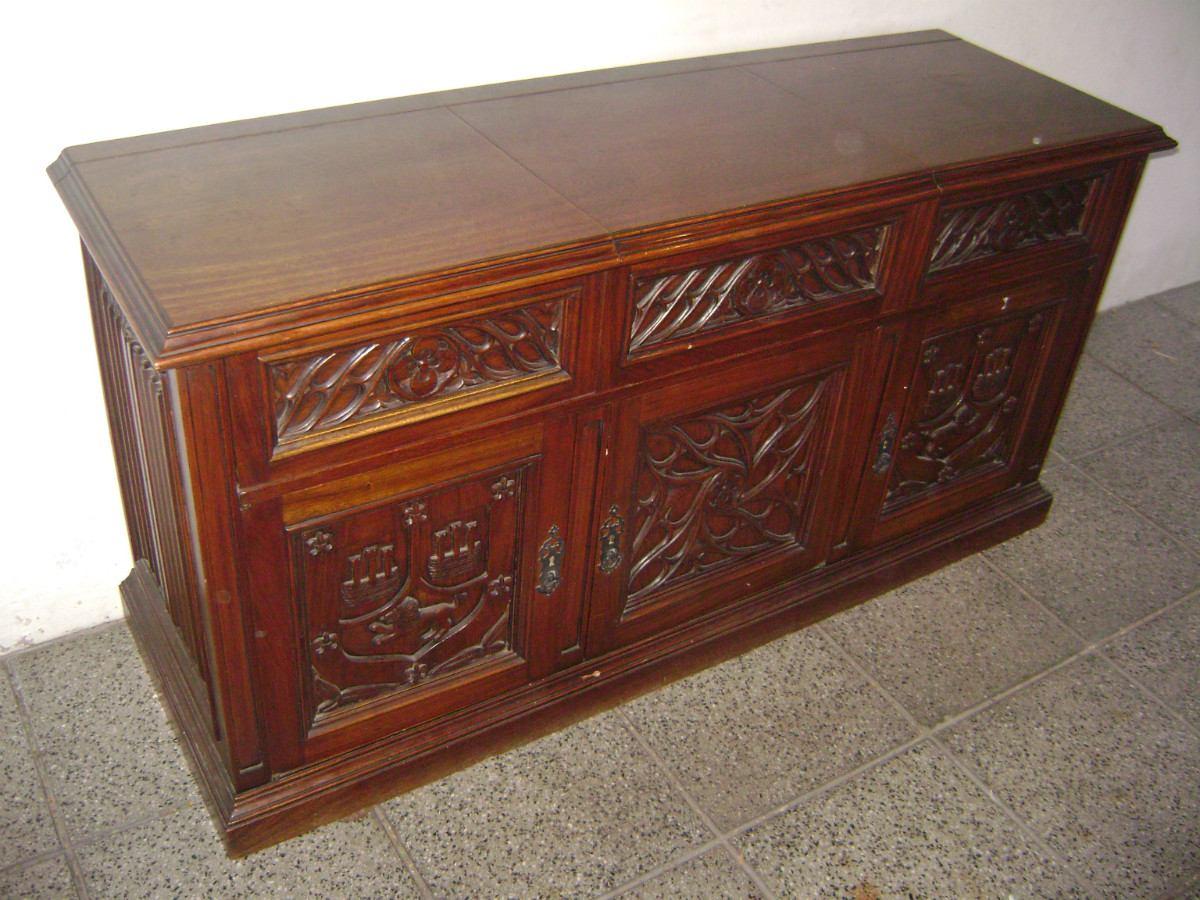 Bajo Aparador O Mueble Musiquero Estilo G Tico 12 500 00 En  # Muebles Musiqueros Antiguos