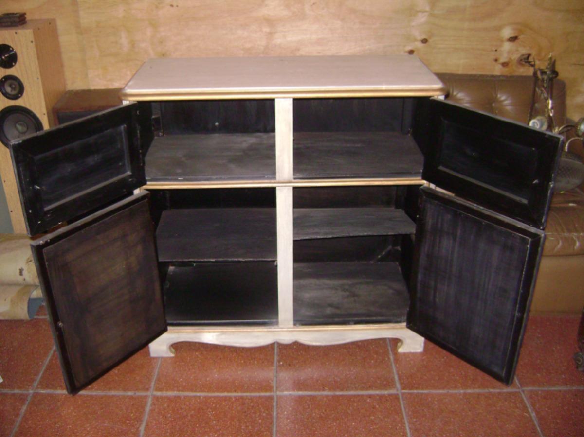 Bajo Aparador O Mueble Musiquero Fabricado En Pino Oregon  # Muebles Musiqueros Antiguos