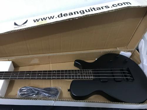 bajo dean evo 4 strings satin black nuevo en su caja!