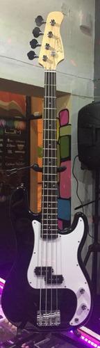 bajo electrico 4 cuerdas jendrix 2 vol con funda remate !!