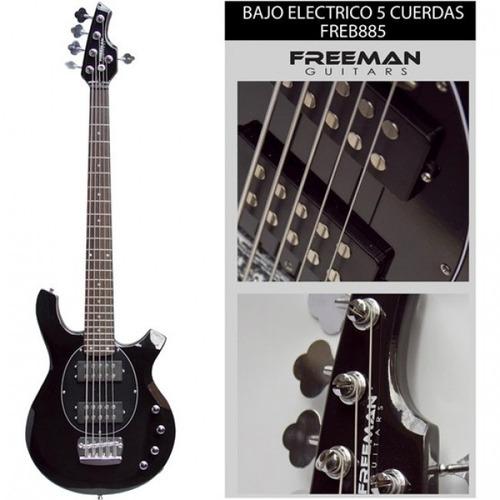 bajo electrico 5 cuerdas freeman freb885 bk