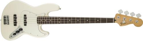 bajo eléctrico fender standard jazz bass® pf arctic white