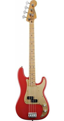 bajo fender precision bass 50s classic fiesta red