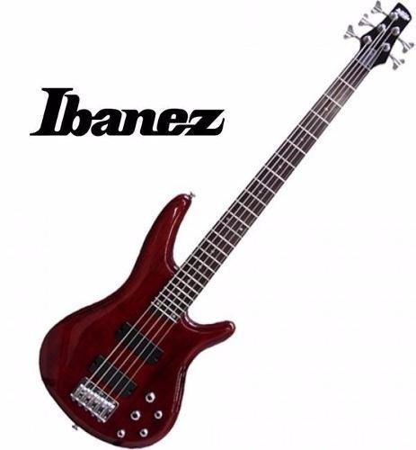 77f4279f5ab3e Bajo Ibanez Gsr255 Wn 5 Cuerdas Activo + Accesorios -   12.535
