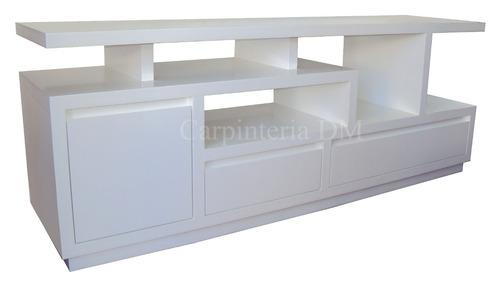 bajo mesa tv estantes irregulares 110x45 / carpinteria dm