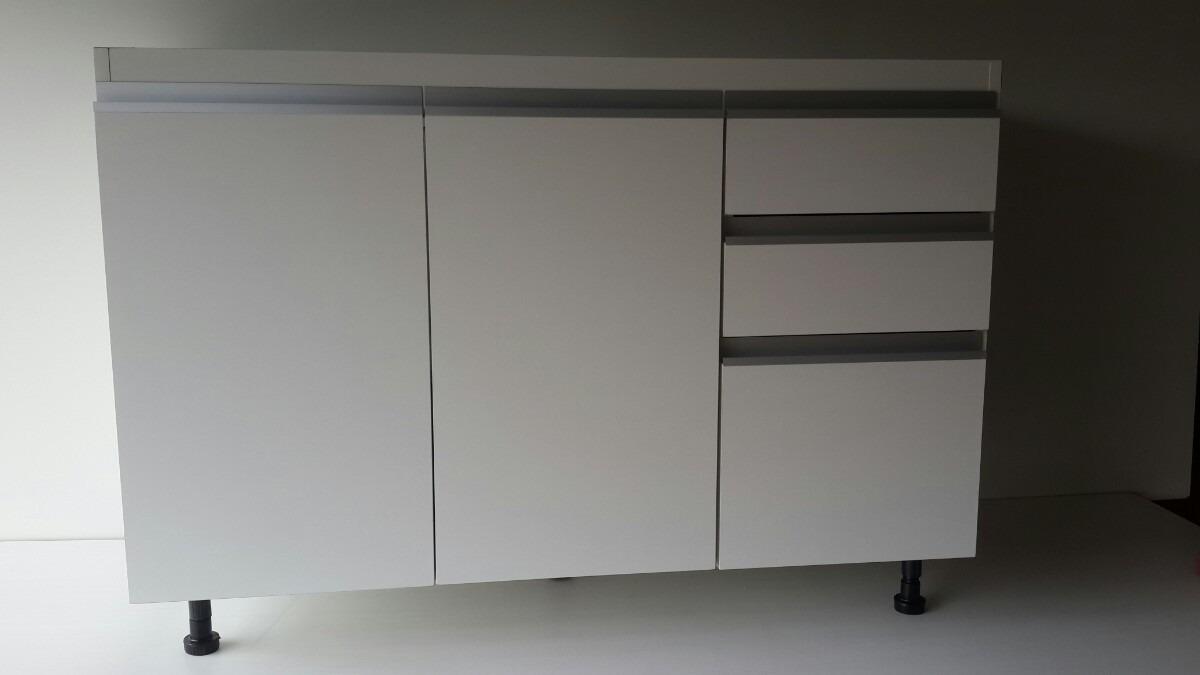 Bajo Mesada 1 40m Con Cajones Guias Perfil J Aluminio 6 580 00  # Mueble Vagoneta