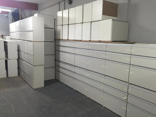 bajo mesada  80 armado melamina blanca 18 perfil j aluminio