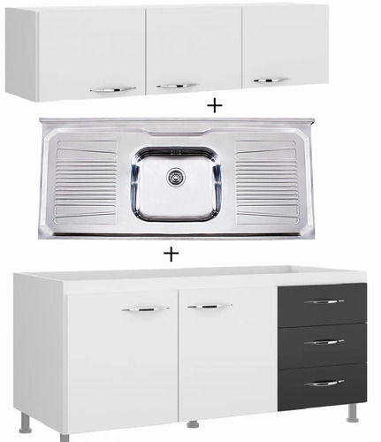 bajo mesada c/mesada armario aereo mueble de cocina