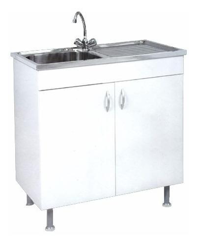 bajo mesada cocina 80 cm incluye bacha acero sifon desagote